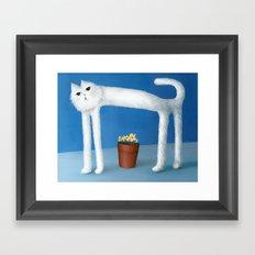 Skinny Cat Framed Art Print