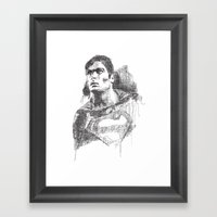 Christopher Reeve Portrait Framed Art Print