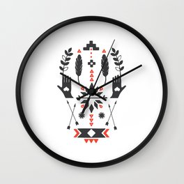 Norwegian Folk Graphic Wall Clock