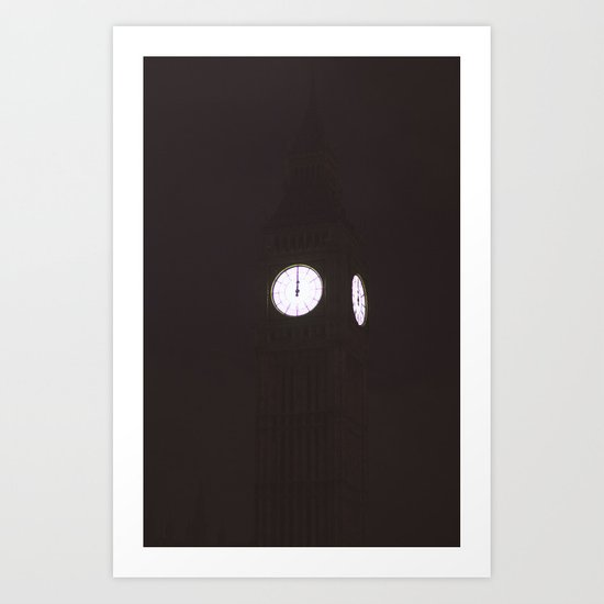 Big Ben After Midnight. Art Print