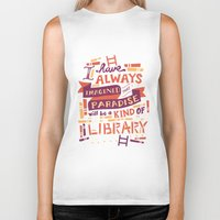risa rodil Biker Tanks featuring Library by Risa Rodil