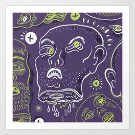 Floating Heads (Halloween Edition) Art Print
