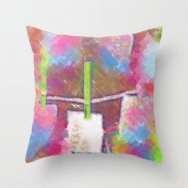 Title Shop Art Pop Art Throw Pillow