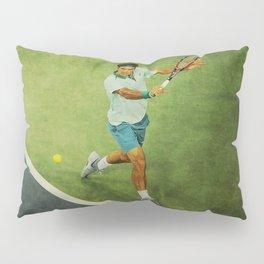 Roger Federer Tennis Backhand Pillow Sham
