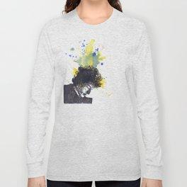 Portrait of Bob Dylan in Color Splash Long Sleeve T-shirt