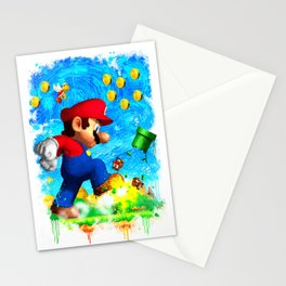 Super Mario Van Gogh style Stationery Cards