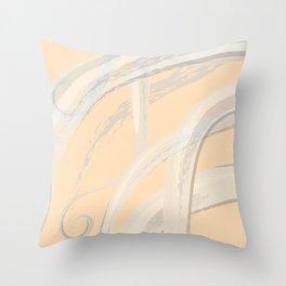 Soothing Golden Orange Jellyfish Throw Pillow