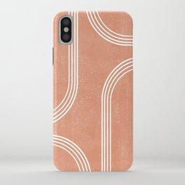 Mid Century Modern 2 - Geometrical Abstract - Minimal Print - Terracotta Abstract - Burnt Sienna iPhone Case
