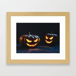 halloween' s pumpkin Framed Art Print