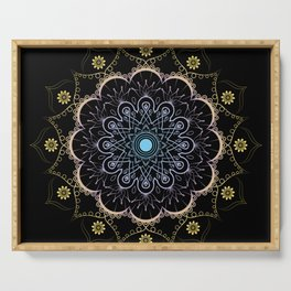 Contrast mandala Serving Tray