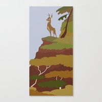 bambi Canvas Prints featuring Bambi by Citron Vert