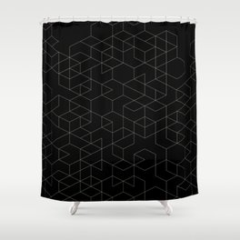 cubic vee Shower Curtain