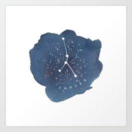 cancer constellation zodiac Art Print