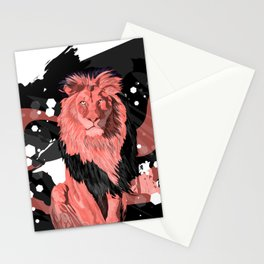 Lion Coral Stationery Cards