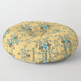 Shears in blue game Floor Pillow