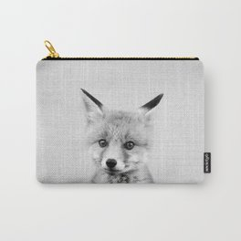 Baby Fox - Black & White Carry-All Pouch