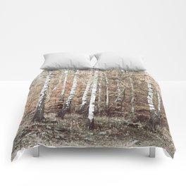 birch forest Comforters