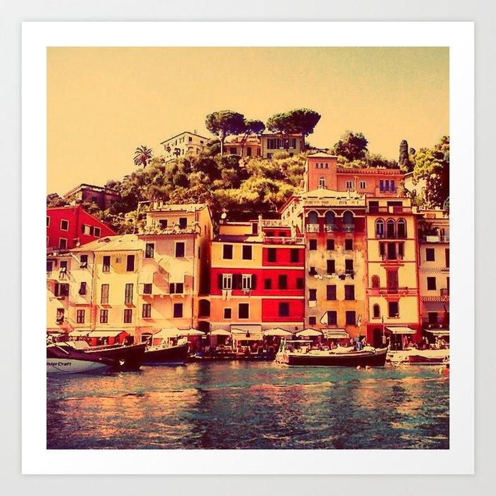 Buongiorno Portofino! Art Print