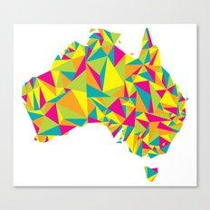 Abstract Australia Bright Earth Canvas Print