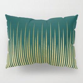 Linear Gold & Emerald Pillow Sham