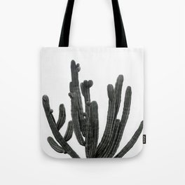 Black and White Cactus Tote Bag