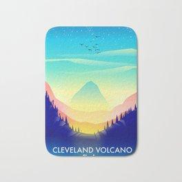 Cleveland Volcano Alaska travel poster Bath Mat