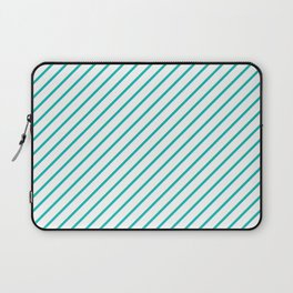 Diagonal Lines (Tiffany Blue/White) Laptop Sleeve