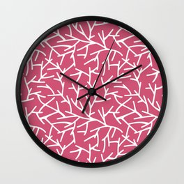 Branches - pink Wall Clock