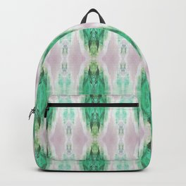 Pattern design in emerald green and pale muted pink Backpack