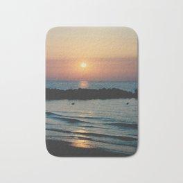 Sunset Ocean Bliss #1 #nature #art #society6 Bath Mat