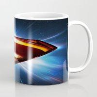 man of steel Mugs featuring Man of Steel Logo by taylorwayne93