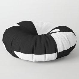 Minimal Black and White Floor Pillow