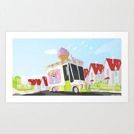 Despicable Me 2 - Ice cream Truck  Art Print