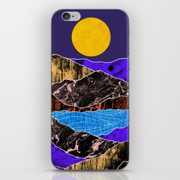 Textured lands iPhone Skin