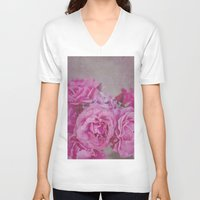 rose V-neck T-shirts featuring Rose by Pure Nature Photos