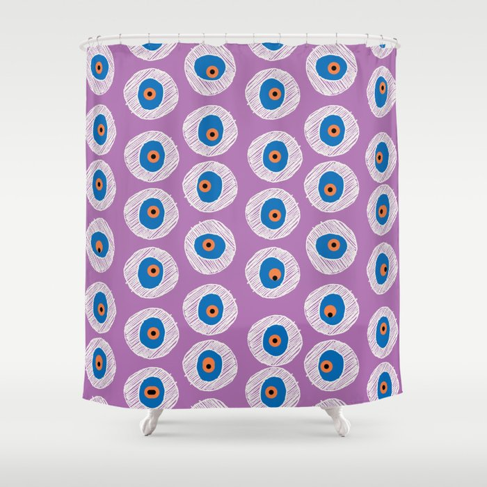 Evil Eye Charm - Radiant Orchid  Shower Curtain