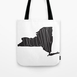 New York Motto - Black Tote Bag