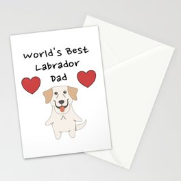 World's Best Labrador Dad   Cute Dog Father Design Stationery Cards