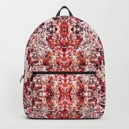Beautiful Red Foklore Damask Pattern Backpack