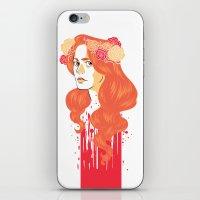 black widow iPhone & iPod Skins featuring Widow by barbitone