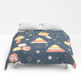 Cartoon Letter Pattern Art Prints Comforters