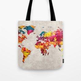 World Map 55 Tote Bag