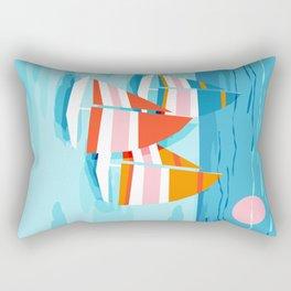 Popin - memphis sports retro throwback neon sailing sailboat cool rad gnarly trendy watersports Rectangular Pillow