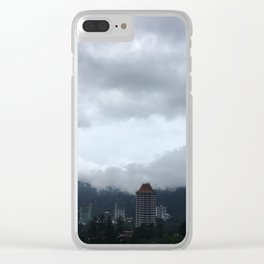 Beautiful clouds over the Malaysian city Clear iPhone Case
