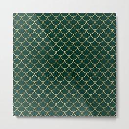Beautiful Emerald and Gold Safari Patterns Metal Print