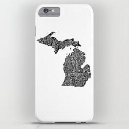 Typographic Michigan iPhone Case