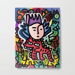 Cipo King Boy Street Art Graffiti with Red Dog Metal Print