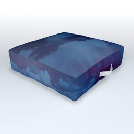 Clouds in a Stormy Blue Midnight Sky Outdoor Floor Cushion