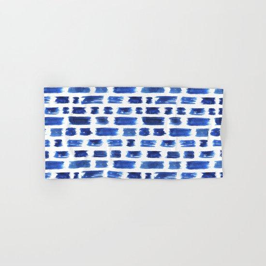Ultramarine brushstrokes Hand & Bath Towel