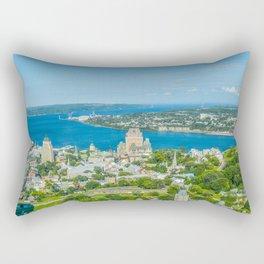 Frontenac castle in Quebec Rectangular Pillow